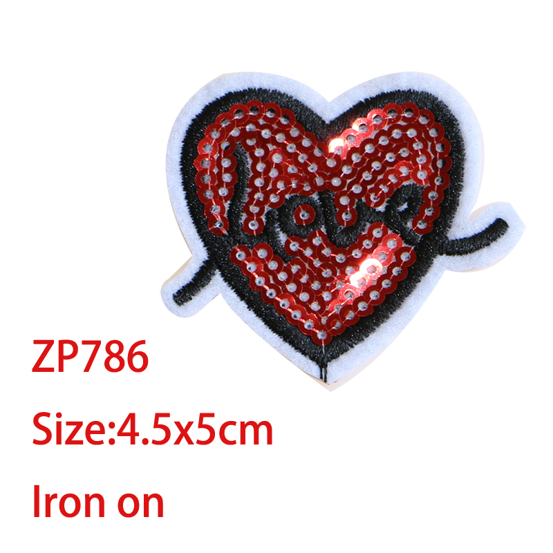 3PCS PINK LOVE HEARTS  Iron Sew On Cloth Patch Badges Applique Slight Seconds