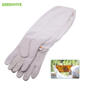 Bee Gloves Beekeeping For Beekeeper Professional Leather Keeping with Sleeves