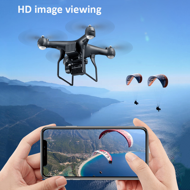 RC Helicopter Foldable Drone WIFI FPV With ESC Camera 4K HD 1080P 2