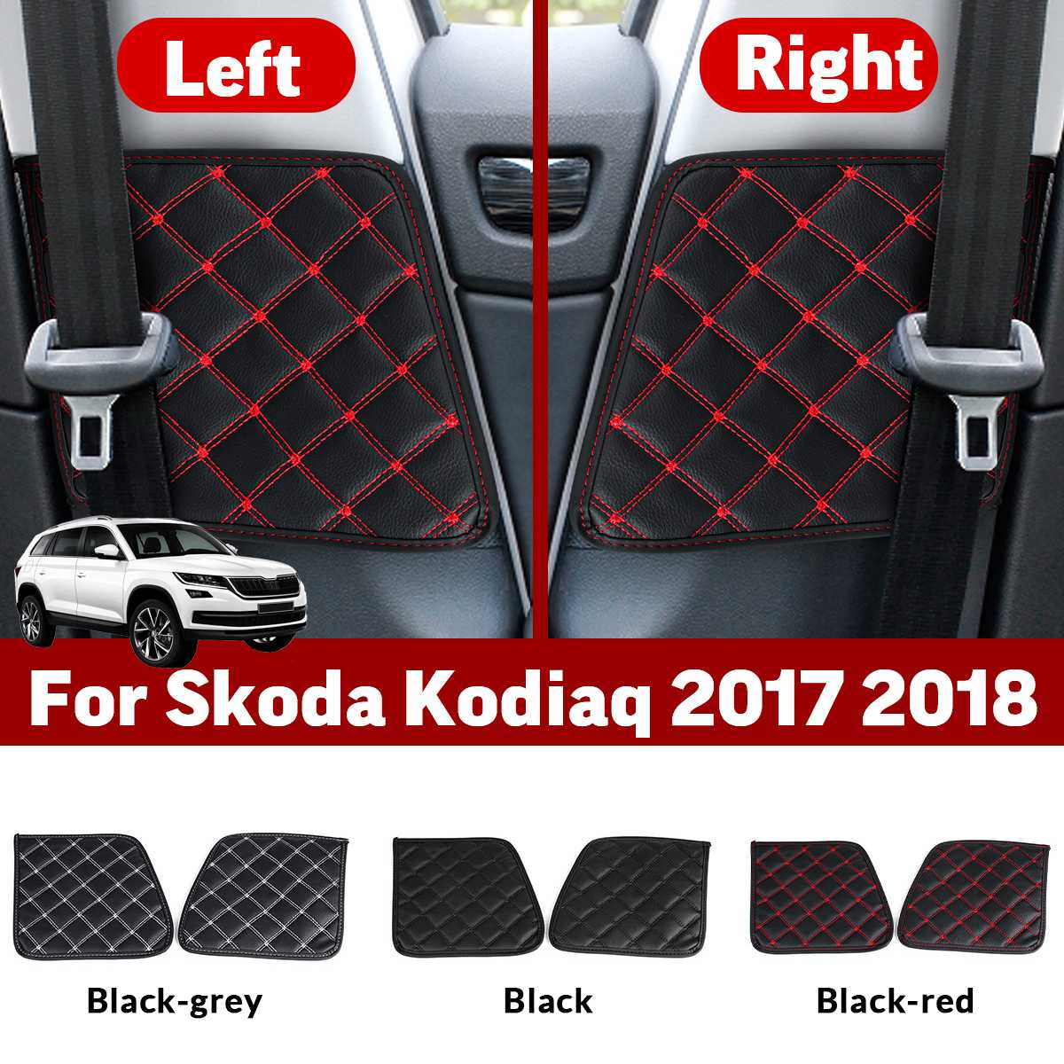 2x Car Seat Safety Belt Protective Pad Crash Mat Cover Car Styling