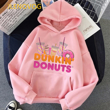 New Arrival 2021 Vogue Pink Hoodie Women'S Clothing Funny Charli Damelio Coffee Graphic Print Sweatshirt Winter Clothes Jumper