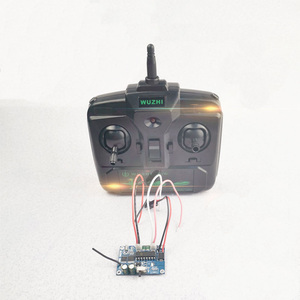 Image 1 - 1Set 2.4G Differential 4ch Receiver+Remote Control Radio Systems Speed  for RC Tank Boat Speedboat Accessories