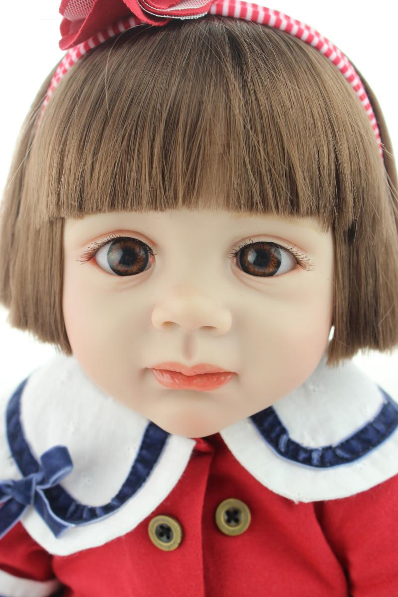 "24"" Fridolin baby reborn toddler Girl doll soft silicone vinyl dolls toys for children gift babies clothing model bebe reborn"