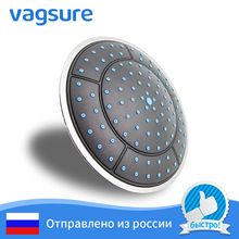 High quality round shape 25cm diameter blue plating plastic shower room  top head