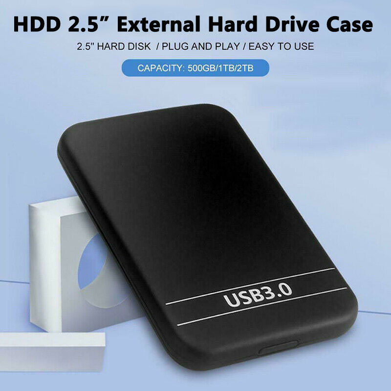 "2.5"" USB 3.0 Data Transfer Hard Drive 6TB Enclosure Slim External Case Portable Hard Drive Disk Box 5Gbps For 1TB HDD SSD"