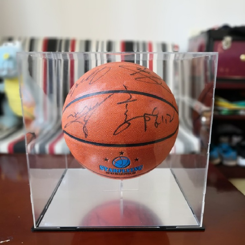 Acrylic Ball Stand Basketball Football Soccer Rugby Plastic Display Box Transparent Case Multi-function Display Holder Ball Rack