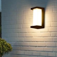 12W LED Wall Light Radar Motion Sensor auto Waterproof IP66 Porch Aluminum alloy modern night Lamp for Courtyard Garden house