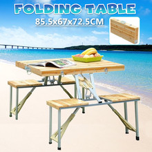 Chair Table-Desk Folding-Table Picnic Outdoor Camping Aluminium-Alloy for Waterproof