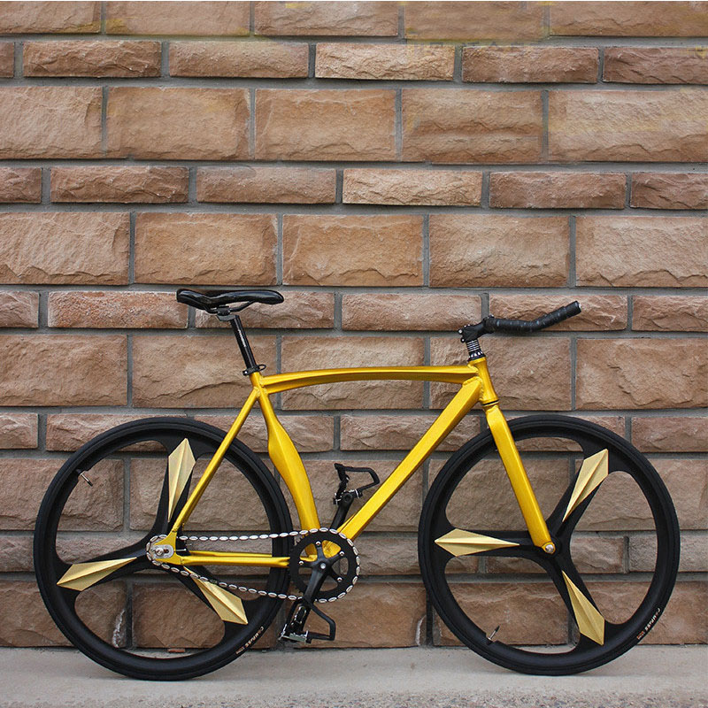 Bicycle Fixed Gear Bike Three Knife Aluminum Alloy With Eye-catching Multi-color Can DIY Adult Male And Female Students