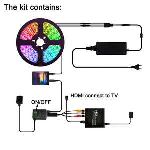 """Image 3 - Ambilight LED TV Backlights kit LED TV Ambilight effect for TV HDMI sources Dynamic ambient light RGB color for 40"""" 80"""" TV"""