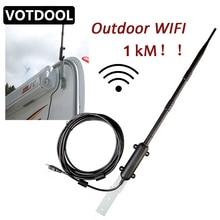 Enrutador de Wifi de 1000m para exteriores, repetidor Wifi inalámbrico de alta potencia, amplificador de señal de antena, receptor de tarjeta de red inalámbrica