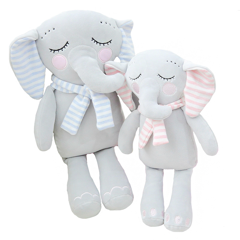 Cute Plush Elephant Toys With Scarves Baby Elephant Doll Toys Soft Plush Pillow Toy Baby Pacify Baby Room Decoration NTDIZ1009