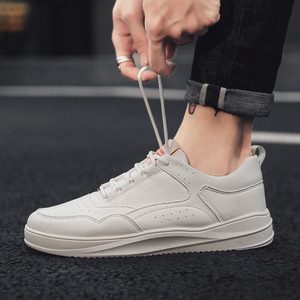 Image 5 - Casual Shoes Sneakers Men PU Leathable Autumn/Winter Fashion White Shoes Man Round Toe Classics High Quality Leisure Board Shoes