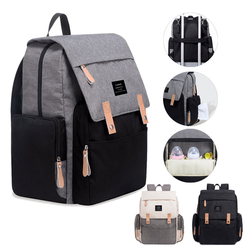 LAND Diaper Bags Baby Bag Backpack Large Capacity Waterproof Nappy Bag Mummy Maternity Bag Travel Nursing Handbag