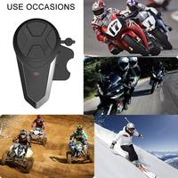 BT S3 1000M Motorcycle BT Interphone Motorbike Helmet Wireless Bluetooth Intercom FM Headset Portable Mini Interphone