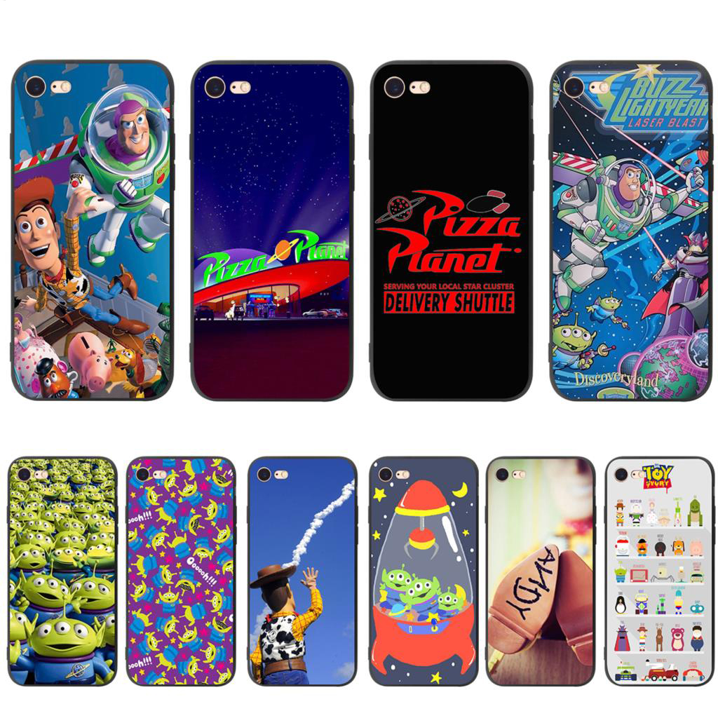 <font><b>Toy</b></font> <font><b>Story</b></font> Pizza Planet Soft Silicone Case for <font><b>iPhone</b></font> 11 Pro XS Max XR X 8 7 <font><b>6</b></font> 6S Plus 5 5s se image