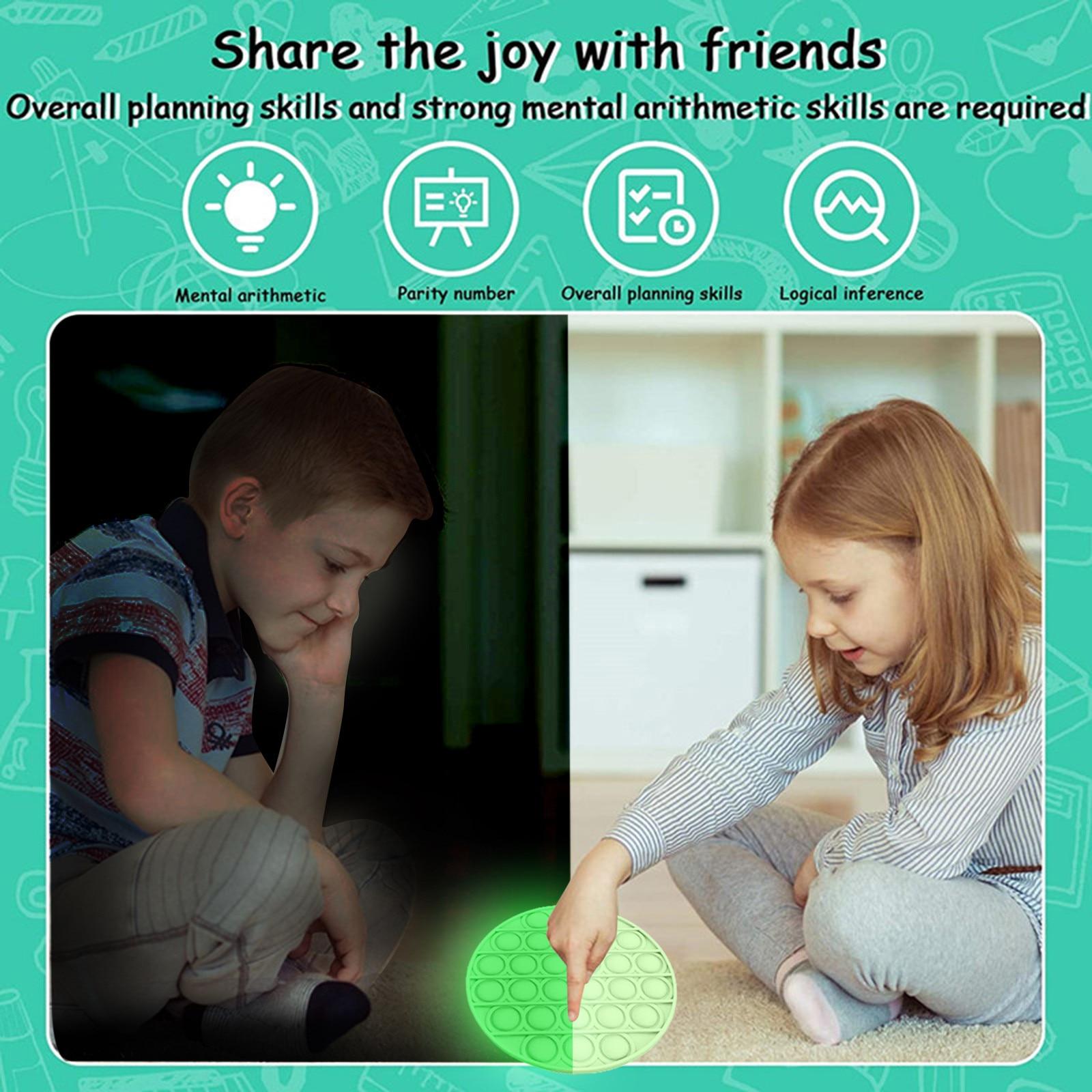 Anti-Stress Toys Bubble Squishy Funny Kids Gift Adult Silicone Luminous-Push Fashion img5
