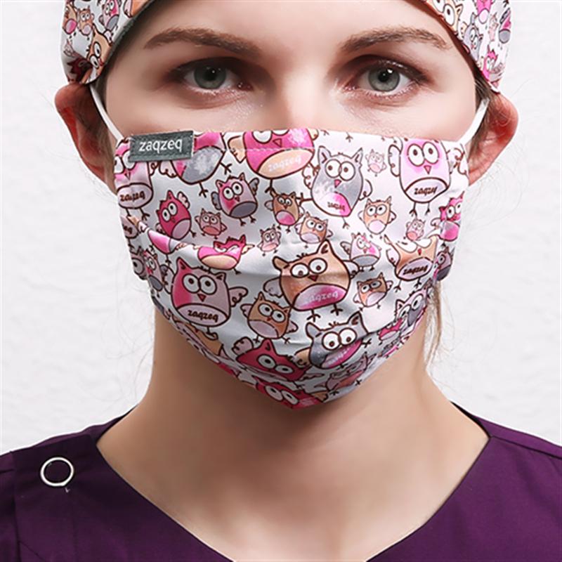 Fashion Colorful Mouth Masks Work Masks Anti Dust Mask Cotton Fabric Masks  For Women