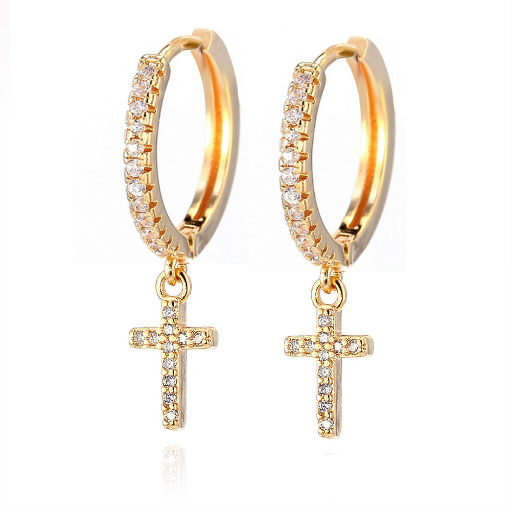 Trendy Cubic Zirconia Small Hoop Earrings For Women Korean Wedding Jewelry 5pendientes Aro