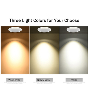Image 5 - [DBF]No Flickering Deep Glare LED COB Recessed Downlight 5W 7W 12W 15W Round White LED Ceiling Spot Light Pic Background