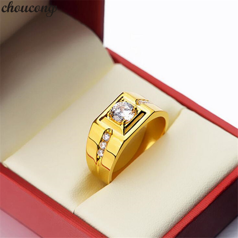 BIG SALE Male 925 Sterling Silver Solitaire Ring diamond Engagement Wedding Band Rings for men Statement Party Jewelry Gift