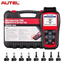 Autel MaxiTPMS TS508K TPMS Tire Pressure Diagnostic Service Tool, Interchangeable valves with With 4 Pcs 315MHz MX Sensor&433MHz