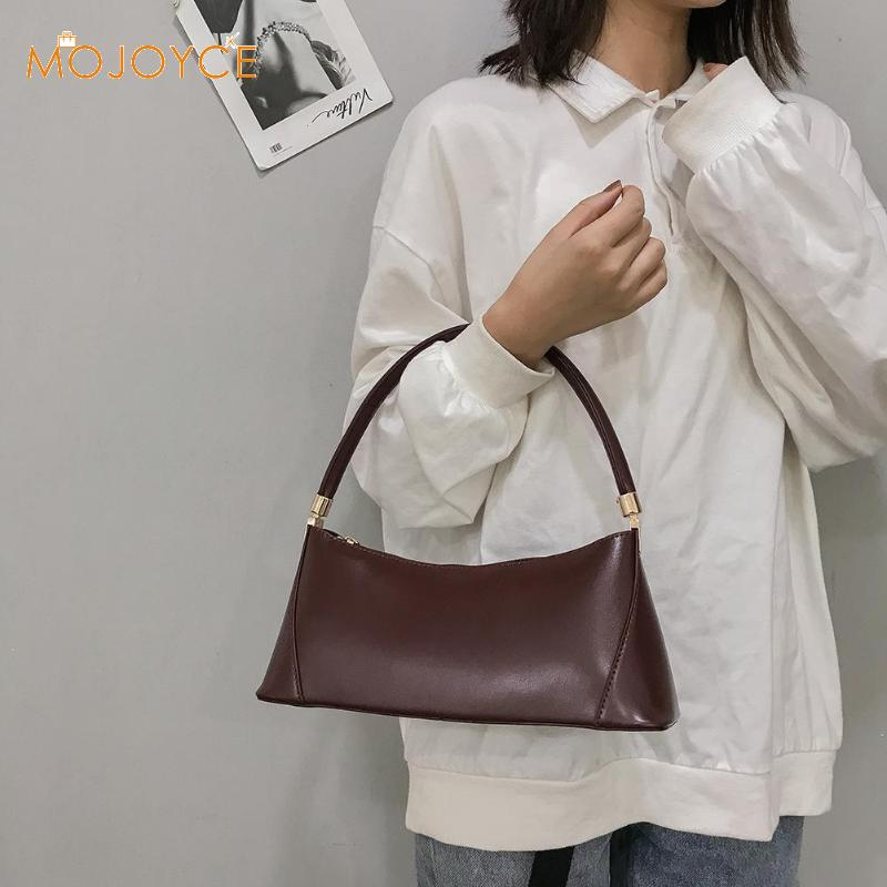 Small Shoulder Bags For Women PU Leather Baguette Bag Brand Mini Elegant Shoulder Bag Solid Color Totes Dropshipping