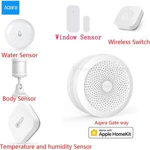 Image 1 - AQARA חכם בית ערכות Gateway Hub דלת חלון חיישן אדם גוף אלחוטי מתג לחות מים חיישן עבור אפל Homekit