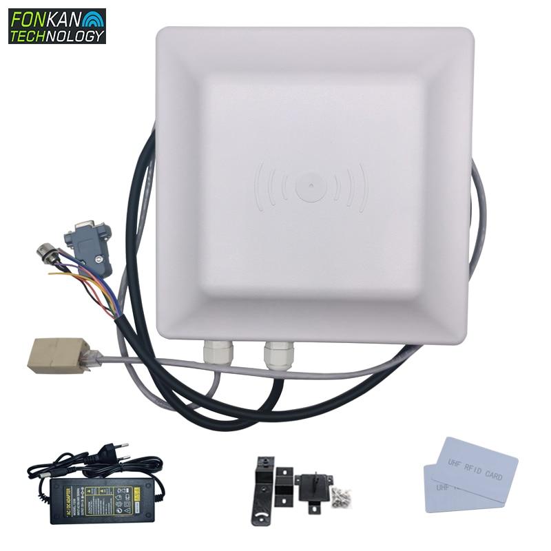 FONKAN  Wifi Rs232 Rs485 Tcp/ip Wiegand26/34  UHF  EPC Tag Reader 7dbi Antenna RFID UHF Card&Tag Reader Integrated Reader