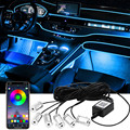 Flexible Car Atmosphere Lights APP Music Control Neon Wire Strip Light Interior RGB Ambient Light Car Styling Decorative Lamps
