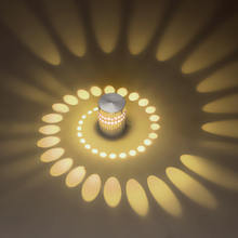 Modern LED Wall Light 3W Spiral Hole Art Aluminum Lamp Indoor Ceiling Decorate Surface Mounted