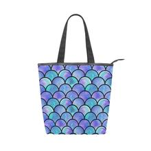 ALAZA 2019 New Women Beach ladies Canvas HandBag Simple Shopping Handbag Sequin Printing Bag Female Casual Tote Big Bags