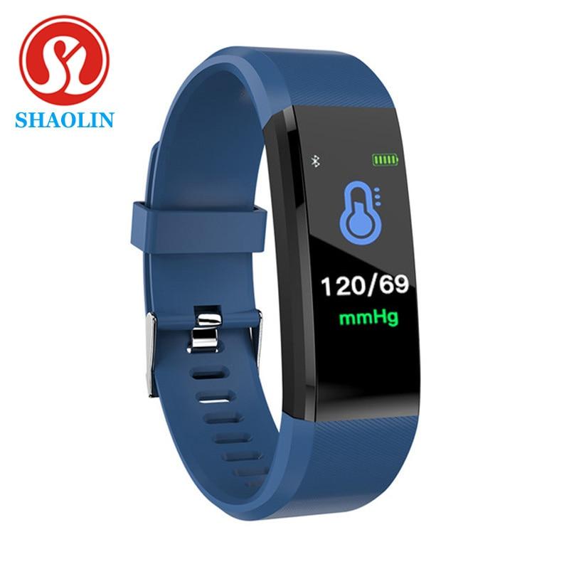 Умные часы SHAOLIN Смарт Браслет для измерения кровяного давления, фитнес-трекер, монитор сердечного ритма, смарт-браслет, трекер активности