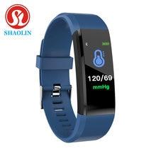 Shaolin inteligente pulseira de pressão arterial relógios inteligentes rastreador de fitness monitor de freqüência cardíaca banda inteligente atividade rastreador