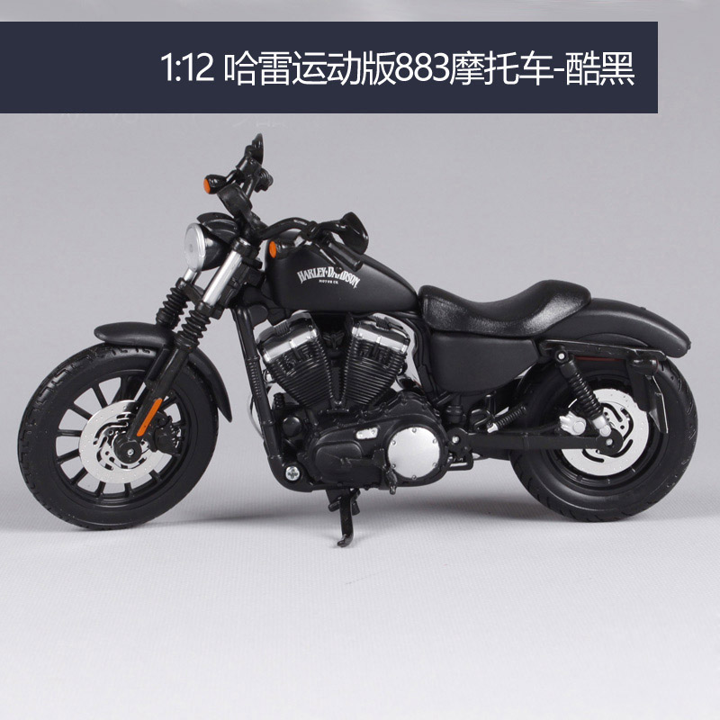 Maisto 1:12 Harley Davidson 2014 Sportsyer Lron 883 Motorcycle Metal Model Toys For Children Birthday Gift Toys Collection