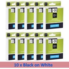 Cidy para dymo d1 45013 12mm preto no branco compatível para dymo d1 etiqueta fita 45018 45010 45021 fabricante gerente de etiquetas 210 450 lm160