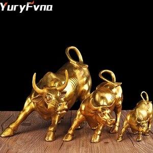 Image 1 - Статуэтка быка из золотистой стены и улицы, 3 размера