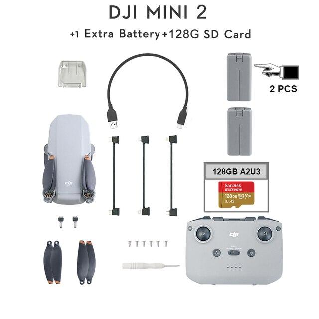 DJI Mavic Mini 2 2pcs batteries + 128GB SD Card