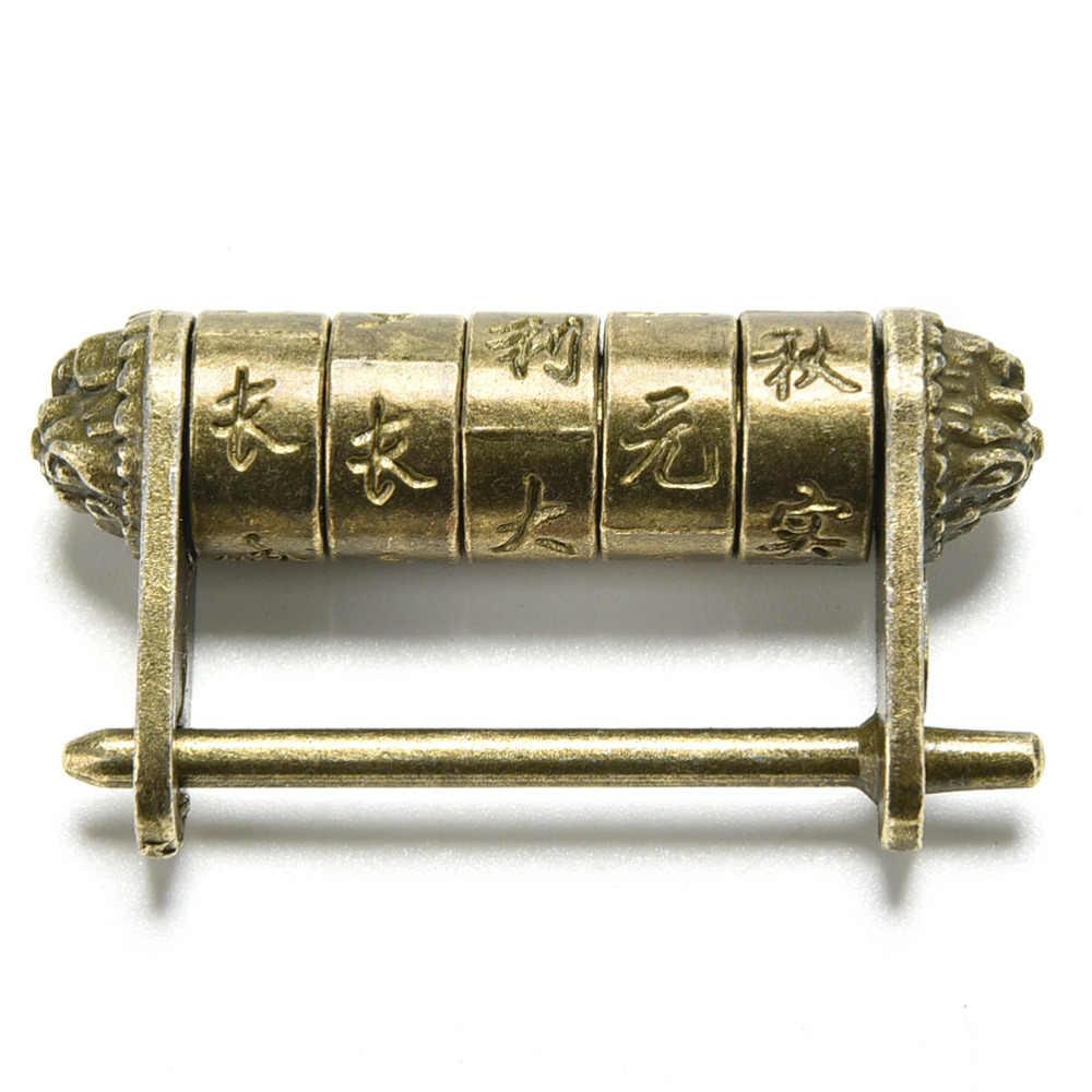 亜鉛合金中国ヴィンテージアンティークブロンズキー南京錠レトロコンビネーションパスワードロックジュエリーボックス南京錠