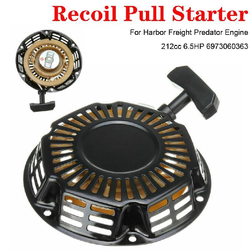 Rewind pull recoil starter cortador de grama boa qualidade instalação rápida conveniente para o motor predador de frete do porto 212cc 6.5 hp