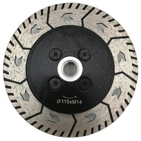TOP 1Pc 4.5 Inch Diamond Dual Saw Blade Dia 115Mm Cutting Grinding Disc Cut Grind Sharpen Granite Marble Concrete