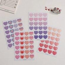 Autocollant décoratif coréen Smiley Expression LOVE, étiquette autocollante de scellage pour journal intime, papeterie pour journal intime, Diy bricolage, 4 pièces