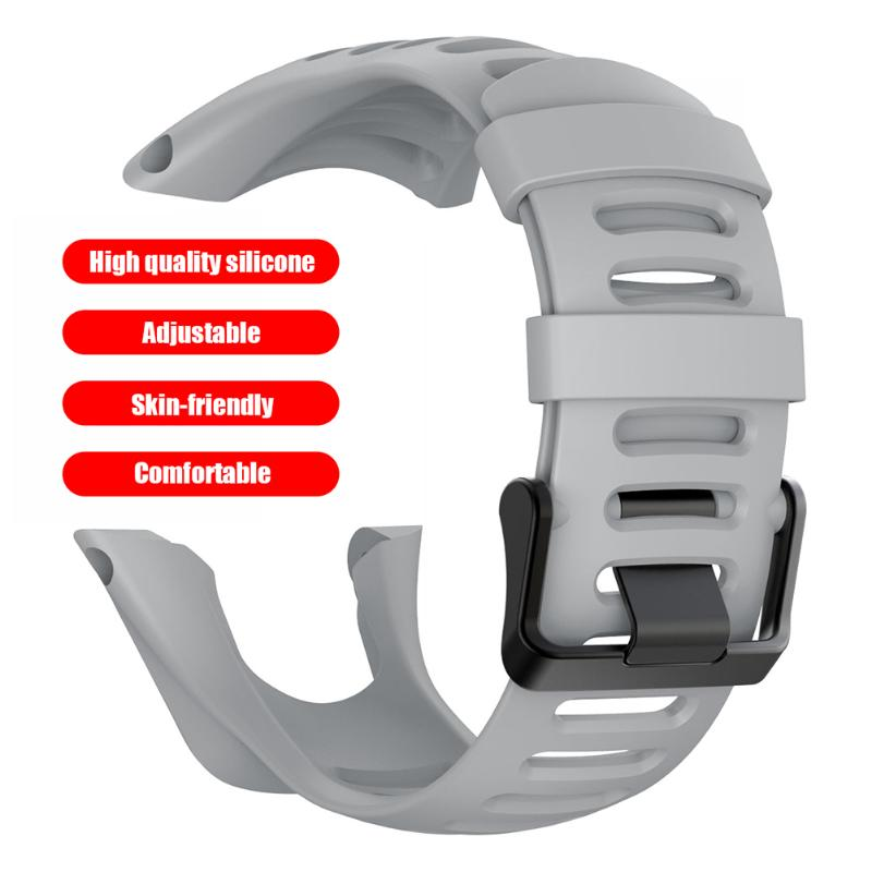 Simple Style Soft Silicone Watchbands Adjustable Durable Watch Bracelet Straps Replacement For Suunto Ambit Series 1/2/3
