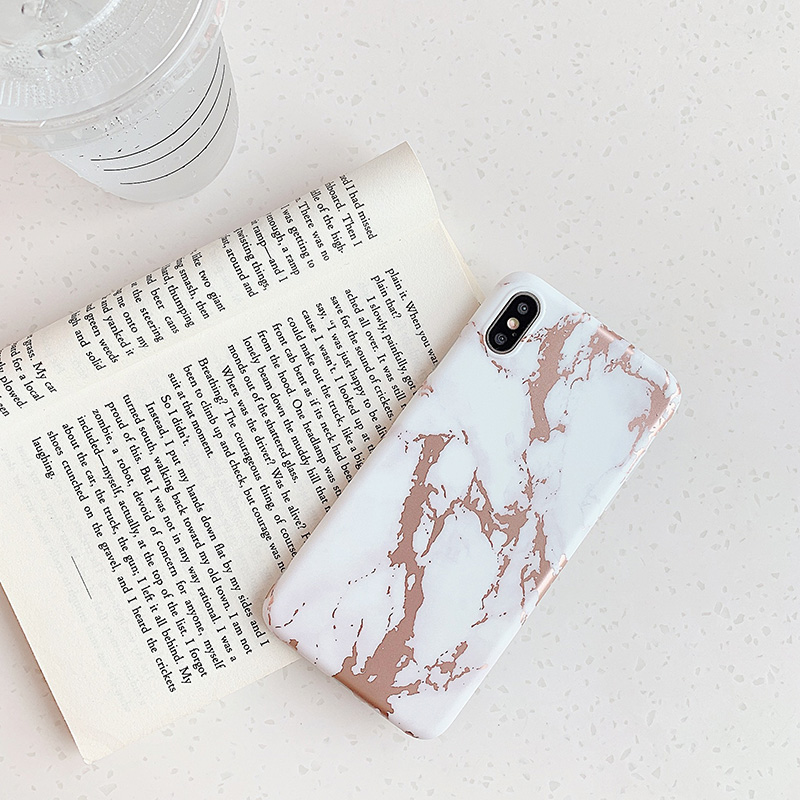 Image 3 - For Iphone XR 7 8 Plus 11ProMax Soft White Phone Case for Iphone X 6 6s Plus Capa iphone Shell Coque with rose gold marble-in Fitted Cases from Cellphones & Telecommunications