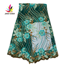 Beaded Tulle Lace Sequin Mesh Embroidered Fabric Embroidered Malaysia African Wedding Beads Lace Applique Wedding AMY2547B embroidered mesh insert tee