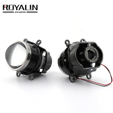 ROYALIN luces antiniebla de coche, lente de Bi Xenon H11 D2S D2H, proyector para Ford Mazada, Mitsubishi, Pajero, Subaru, Citroen, Dacia, Renault, Nissan