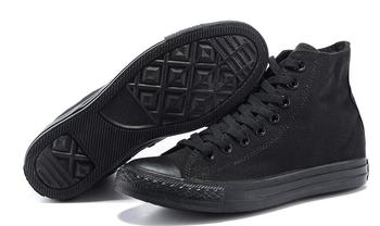 цена на Converse all star shoes men women's sneakers canvas shoes all black high classic Skateboarding Shoes