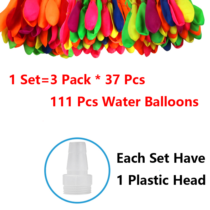 111pcs Water Balloons Magic Ball For Kids Tearhers Children Pool Quick Fill Self Sealing Summer Outdoor Beach Toy Party