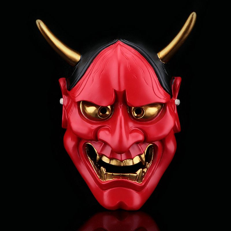 Image 5 - High Quality Halloween Horror Cosplay Mask Buddhism Prajna Ghost  Traditional Hannya Mask Japanese Theme Party Resin MaskParty Masks   -