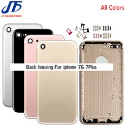 5pcs Back Middle Frame Chassis Replacement Parts For Iphone 7 7g Plus Housing Assembly Battery Cover Case Sim Card with IMEI